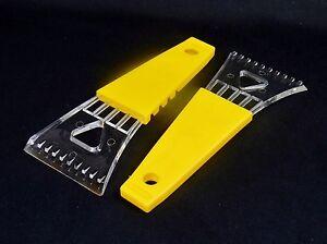 Yellow Comfort Grip Handle. Windshield Ice Scrapers Set of 2