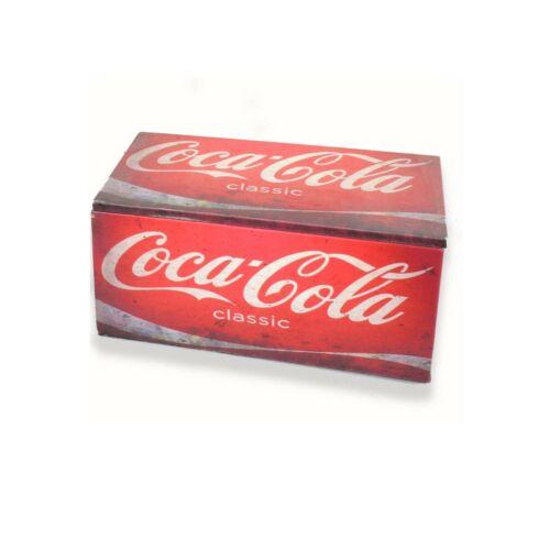 Coca Cola Coke Wooden Storage Box Decorative Classic Vintage Retro Bar Man Cave
