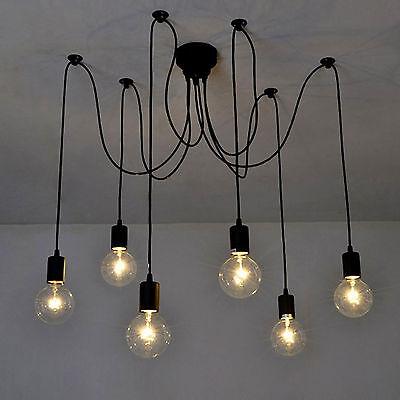 Modern Vintage DIY Chandelier Lights Ceiling Spider Pendant Industrial Light