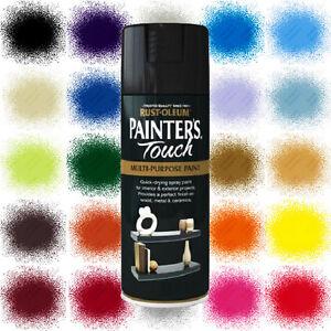 Rust-Oleum Painter's Touch Aerosol Spray Paint Satin Gloss Matt FREE RETURNS