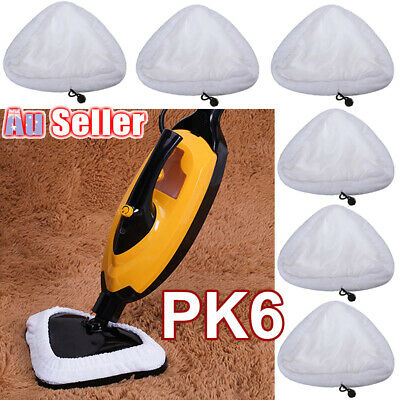 Details about  6Pcs Replacement Micro Fibre Clothes Steam Cleaner Mop Pads Washable H2O GP