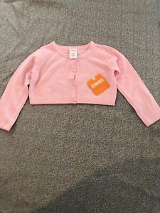 74a89850699 NWT Gymboree baby girl pink SPRING shrug cardigan sweater EASTER 12 ...