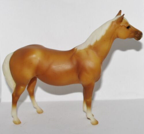 "Dollhouse Miniature BRYER 6.5/"" Palomino Horse GLITTER American Girl Mini ILLUMA"
