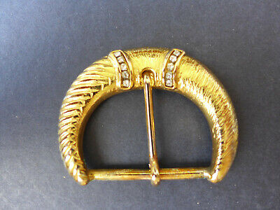 Miele Cintura Fibbia In Oro Con Strass Fibbia Calcatoio, Da Donna Cintura Fibbia-mostra Il Titolo Originale