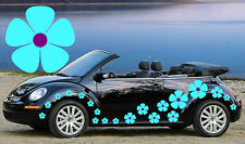 64 BLUE & PURPLE PANSY FLOWER CAR DECALS,STICKERS,CAR GRAPHICS,DAISY STICKERS