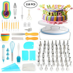 118pcs Cake Decorating Supplies Kit Cake decorating set ...