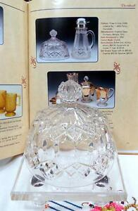 EAPG-IMPERIAL-GLASS-THREE-IN-ONE-AKA-FANCY-DIAMONDS-CLEAR-5-1-2-034-BUTTER-DISH-LID