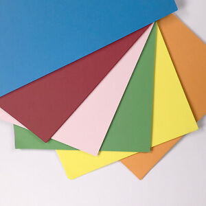A4 COLOURED CARD 160gsm Blue Green Red Yellow Orange Colour Craft Copier Sheets