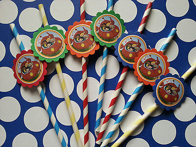 24 Pinkalicious straws party favors goodie bag fillers