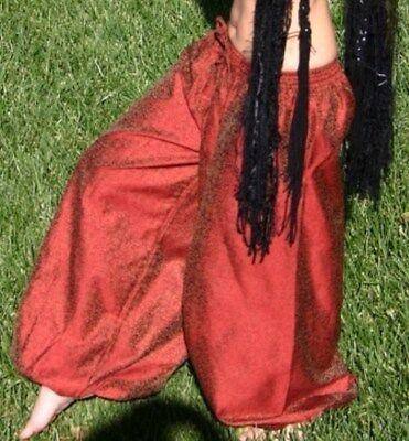 S TRIBAL GYPSY BOHO BELLYDANCE BELLY DANCE DANCING HAREM BAGGY COSTUME PANTS
