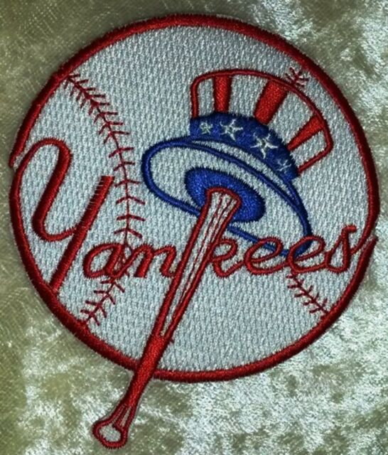 "New York NY Yankees Baseball MLB 3.5"" Iron On Embroidered Patch"