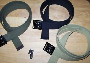 3-Army-Military-USMC-Marine-Corps-Navy-USAF-Tan-OD-Belt-BDU-ACU-w-P38-Can-Opener