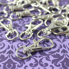 """50 Swivel Lobster Clasps - 1.5"""" - Silver Color - Keychains Lanyards Connector"""