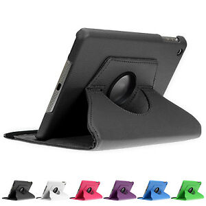 360-drehbar-Huelle-iPad-mini-1-2-3-4-Schutz-Cover-Case-Tasche-Etui-Staender-Folie