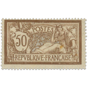 FRANCE N°120 TYPE MERSON BRUN ET GRIS, TIMBRE NEUF* 1900
