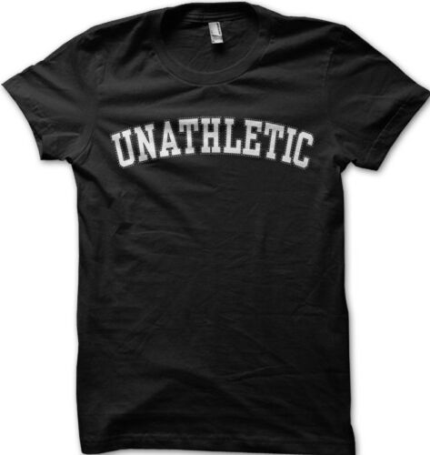 UNATHLETIC  athletic college funny fitness printed t-shirt 9137