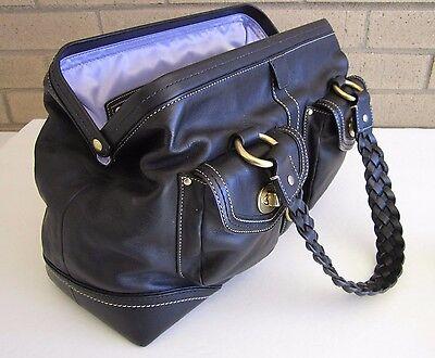 Coach Black Daphne Doctor Satchel Glove Tanned Leather $698 RARE BEAUTY EUC