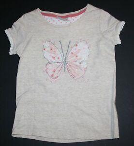 Neue-Weiter-UK-Maedchen-Hellbraun-Pailetten-Schmetterling-T-Shirt-Top-Hemd-6-amp