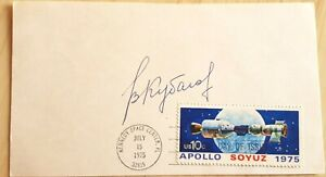 ASTP Valery Kubasov original signed Space Cover, Apollo Soyuz 6, 19, 36, 35