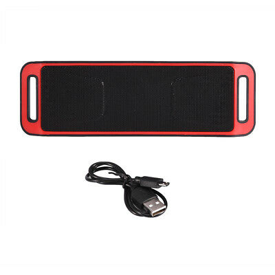 Bluetooth Haut-parleur Stéréo Sans Fil Enceinte TF Card USB AUX FM Radio Mic
