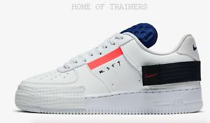 Nike-Air-Force-1-Typ-Summit-White-Weiss-Herren-Turnschuhe-Alle-Groessen-Limited-Stock