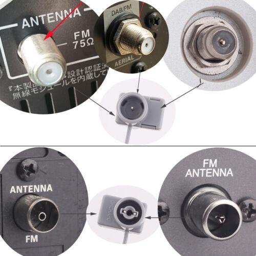 FM Radio//Hi-Fi//DAB Indoor Aerial Antenna with Female male Coax//Coaxial Plug
