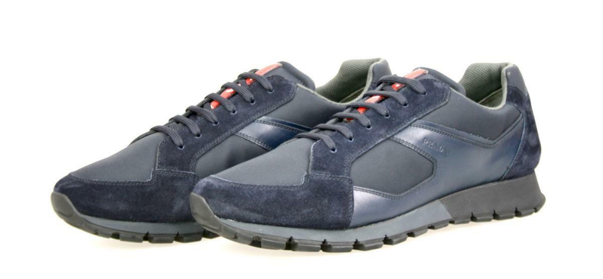 shoes PRADA LUSSO MATCHRACE 4E2932 blue NUOVE 8 42 42,5