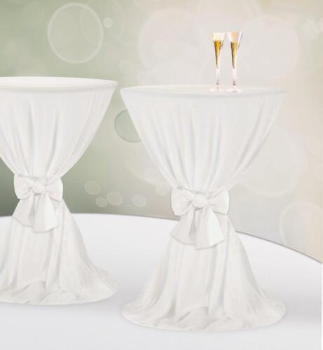 Stehtischhusse Jersey Stretch weiß Gastro Hotel Bistro Party Hochzeit Showroom