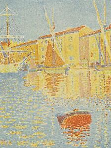SIGNAC-FRENCH-BUOY-LA-BOUEE-OLD-ART-PAINTING-POSTER-PRINT-BB6264A