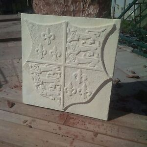 Royal-standard-coat-of-arms-carved-in-sandstone-limestone-tudor-style