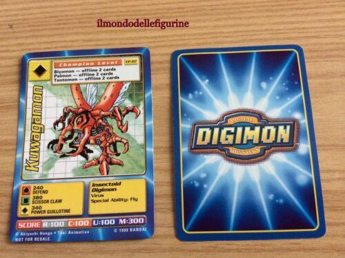 KUWAGAMON CARD DIGIMON CP-07 BANDAI 1999