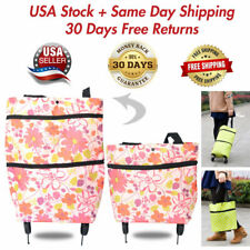 Folding Shopping Cart Utility Trolley On Wheels Portable Grocery Laundry Travel