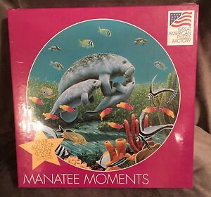great american puzzle factory manatee moments 500 piece sealife