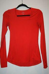 Athleta-Size-XXSmall-Red-Knit-Long-Sleeve-Crew-Neck-Shirt-XXS