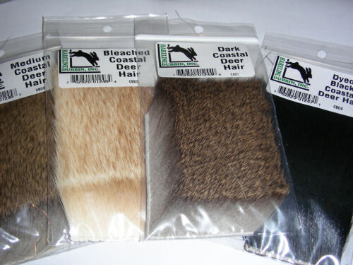 COASTAL DEER HAIR Combo 4 Different Packs Fly Tying Lot