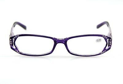 Women Reading Glasses Purple Red Flower Floral Design Rhinestone Many Strengths