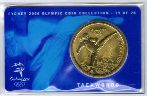 19 of  28 Taekwondo NO OUTER COVER 2000 $5 RAM UNC Coin -Sydney Olympics