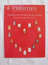 CHRISTIE'S AUCTION CATALOGUE - 9th DECEMBER 1998 - THIMBLES & NEEDLEWORK TOOLS