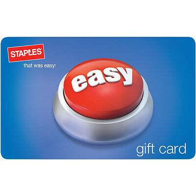 $10 / $25 / $50 / $100 Staples Gift Card - Mail Delivery