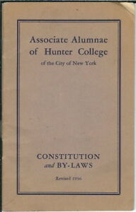 AF-020-Hunter-College-New-York-Alumnae-Constitution-and-By-Laws-1936-Booklet