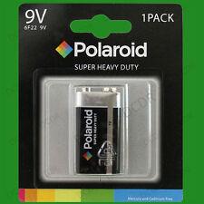 Polaroid 9V Battery, 6F22, MN1604, PP3, Smoke Alarm Battery Super Heavy Duty