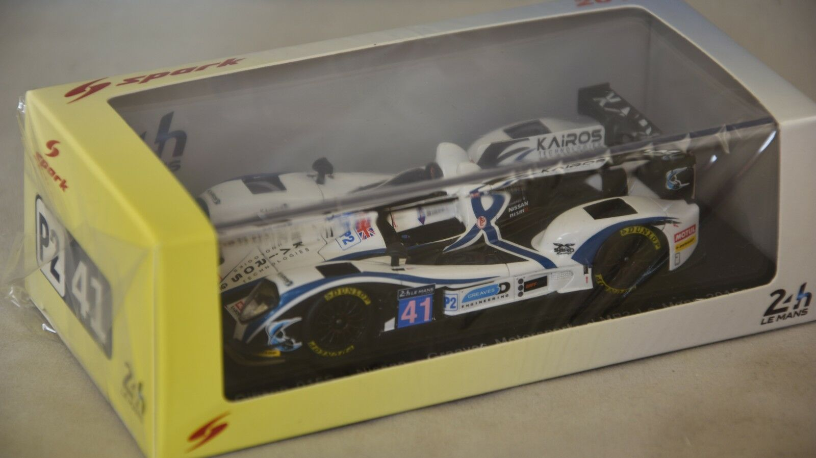 Spark S4655 - GIBSON 015S - NISSAN n 41 Le Mans 2015 Greaves  1/43
