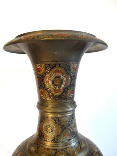 Ältere Orientalische Messing Bronze Vase mit Ziselierungen Orient 1,60 kg