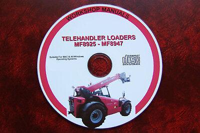 MF8947 Manual de reparación de servicio de taller de Cargador Telehandler Massey Ferguson MF8925