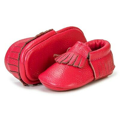 Girls Soft Leather Learn-to-Walking Sh
