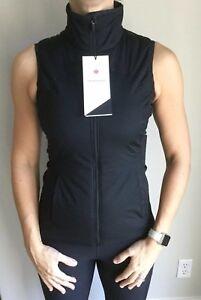 Details about LULULEMON Size 4 Run for Cold Vest Black Reflective Primoloft  Puffy Jacket NWT