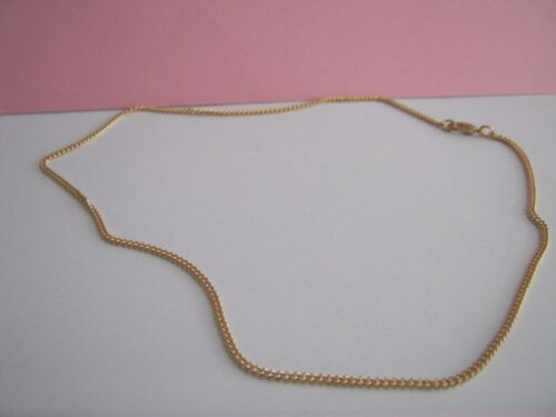 Thin Cadenilla tamaño 18 pulgadas Oro Metales Mixtos