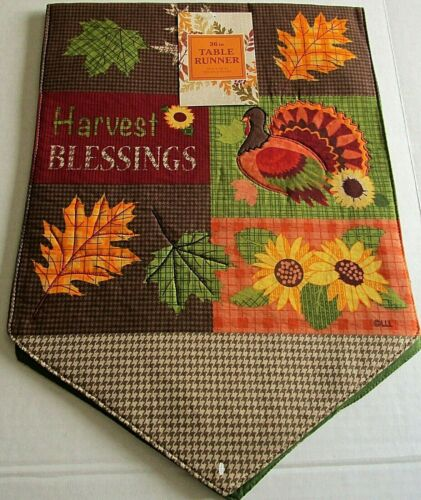 """THANKSGIVING//FALL  TABLE RUNNER ASSORTMENT #2  13/"""" X 36/"""" {Your choice}"""