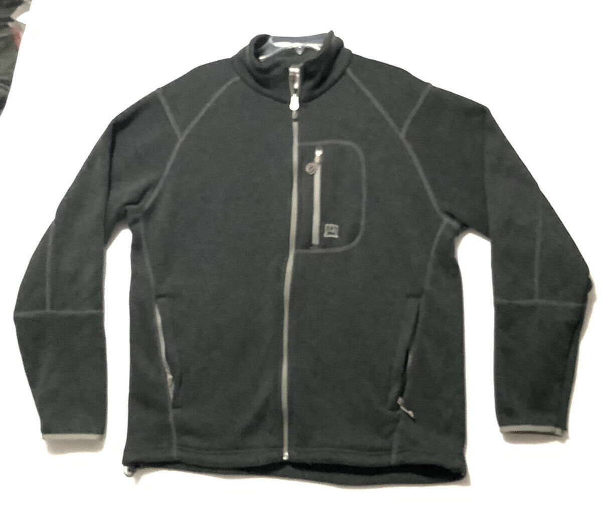 Men's Avalanche XL Charcoal Gray Polyester full zip jacket