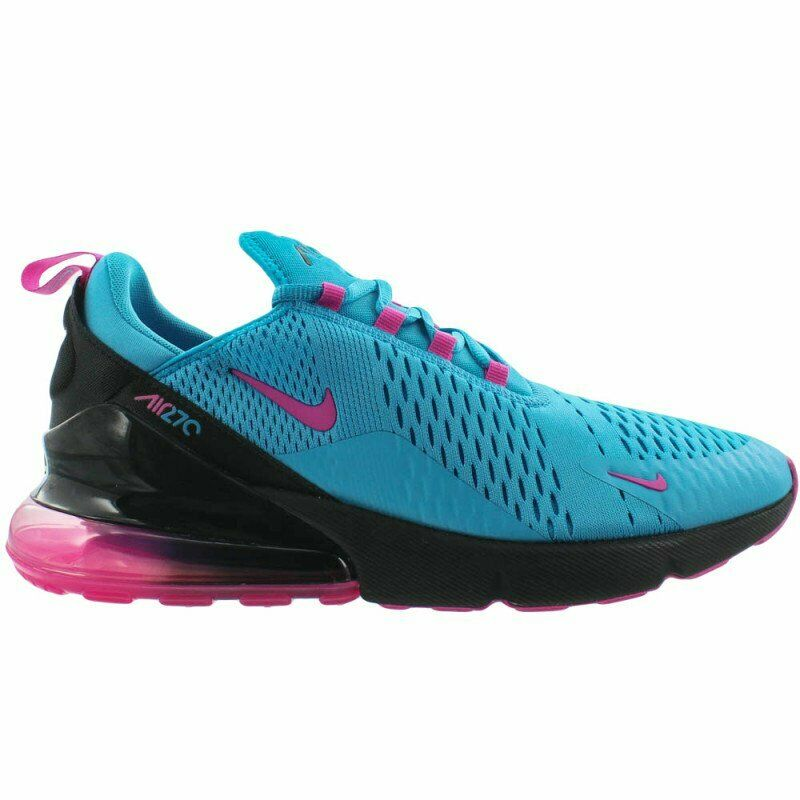 Nike Air Max 270 South Beach Mens BV6078-400 bluee Fuchsia Black shoes Size 9.5